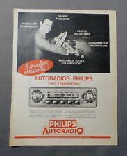 PUB PUBLICITE ANCIENNE ADVERT CLIPPING 230917 AUTORADIO PHILIPS TOUT-TRANSISTORS
