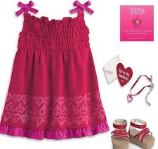American Girl *PRETTY  PARTY OUTFIT* Charm~Necklace~Shoes~Card~NIB~Fast Ship