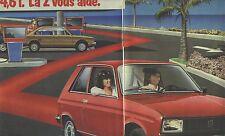 """PUBLICITE ADVERTISING  1982   PEUGEOT 104 Z 4 l 6  """"la z vous aide"""" (2 pages)"""