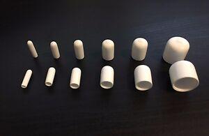 White Vinyl (Rubber) Round End Cap Cover for Pipe Plastic Tube Hub Caps Tubing