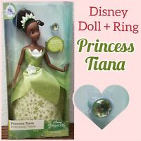"Disney Parks Princess Tiana Classic 11.5"" Dolls With Rings Princess and the Frog"