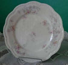 Limoges Scalloped Salad Plate Purple Floral Shabby Cottage 9""