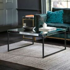 Frank Hudson Gallery Direct Black Pippard Coffee Table -  Mirrored Glass