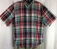 Knights Of Round Table Blue Green Red Yellow & White Short Sleeve Shirt Men's L