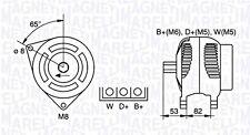 Alternator Magneti Marelli Fits LAND ROVER Range Rover I 1 3.9L 1988-1994