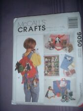 MCCALLS PATTERN 9050 ~ ACCESSORIES for BEAN BAG BABIES ~ BACKPACK TOTES ++ ~ NEW