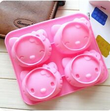 Hello Kitty Shape Cake Chocolate Fondant Muffin Pudding Jelly Ice Mold Tool