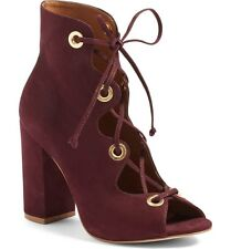 Steve Madden Carusso Lace-Up Peep Toe Bootie 7880 Size 6 M
