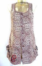 Tunique ♥ COP COPINE ♥ Taille M 38 40  taupe imprimé fleurs 100% coton