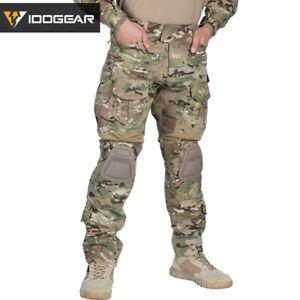 IDOGEAR Airsoft G3 Combat Pants w/ Knee Pads Military Tactical Pants MultiCam