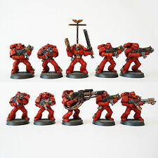 Warhammer 40k Army Space Marine Blood Angels 10 Man  squad Painted and based