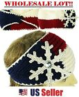 (WHOLESALE BULK LOT) Knit Crochet Skiband Headband Hairwrap Winter Ear Beanie