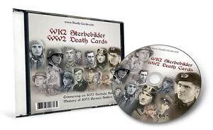 STERBEBILD CD insg. 8.373 FOTO SCANS - WWII DEATH CARDS CD