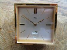 Vintage Gold plated IMHOF 8 Days Desktop Clock / Pendulette de bureau. Ref. 78.