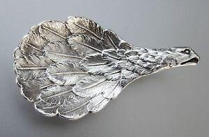 1970 C J Vander Ltd Sterling Silver Eagle's Wing Tea Caddy Spoon - Look.