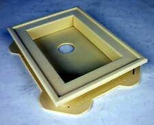 Mid America Split Mount Mini Vinyl Mounting Block Beige 30401019 #7hz