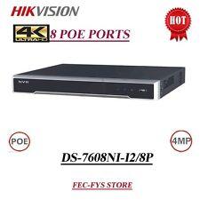 Hikvision DS-7608NI-I2/8P 8 canales puertos Poe NVR para IP CCTV cámaras hasta 4MP