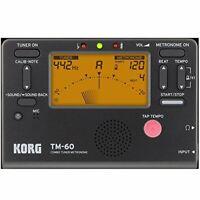 New Korg TM-60 Tuner Metronome Combo With Large Screen Black TM60BK