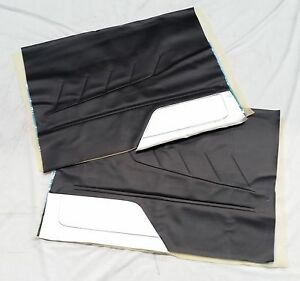 MAZDA R100 10A M10A ROTARY BLACK 2 DOOR TRIMS NO BACKINGS 2PCS WITH CLIPS