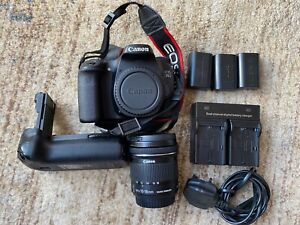 Canon EOS 70D DSLR Camera, EFS 10-18mm Lens, Battery Grip and Three Batteries.