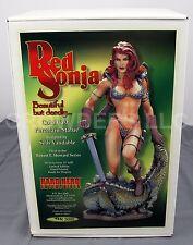 "Hard Hero RED SONJA Beautiful but Deadly Porcelain Statue Dragon 13"" #588 NIB"