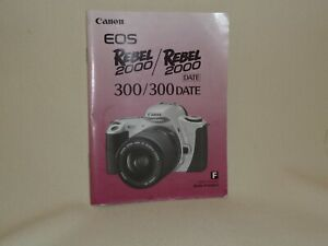 CANON EOS 300 / REBEL 2000 INSTRUCTION BOOK IN FRENCH