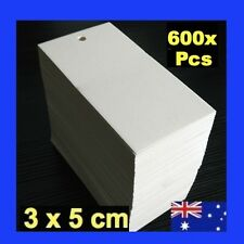 NEW 600 x White Swingtags Swing Tags Garment Price Label Tag Tagging Gun SWT-1