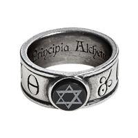 Alchemy of England Gothic Principia Alchemystica Solomonic Seal Onyx Ring R229