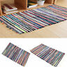 Fair Trade Handmade Indian Chindi Rag Rugs Hand Woven Mat Large Small Striped