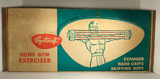 Vintage Chest Expander Hand Grips Skipping Rope Sportcraft Home Exerciser Box