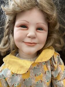 Unbranded 32 in Porcelain doll with cloth body