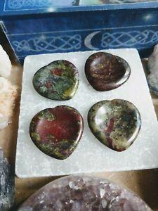 Dragons Blood Jasper stone heart worry stone Crystal Healing Spiritual support