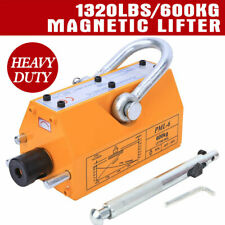 Heavy Duty 1320lb 600kg Steel Lifting Magnet Magnetic Lifter Hoist Crane Usstock