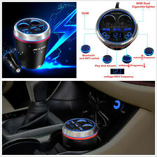 3USB 2 Cigarette Lighter Charger Car SUV Bluetooth FM Radio MP3 Player Handfree