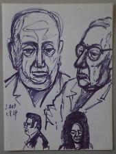 "ROBERT FRAULOB - Feutres  "" JEAN ARP "" -  1969"