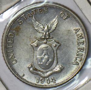 Philippines 1944 D 20 Centavos Eagle animal 193687 combine