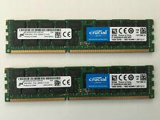 Crucial CT2K16G3ERSLD4160B 32GB 2x16GB DDR3 ECC PC3-12800 1600Mhz Server Memory