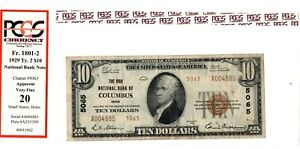 1929 $10 THE OHIO NATIONAL BANK OF COLUMBUS OHIO OH - A004885 5065 (PCGS VF-20)