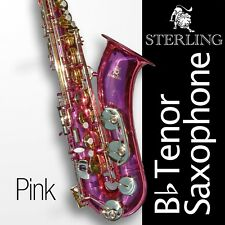 Pink Tenor Sax • Brand New STERLING Bb Saxophone • NEW • Case and Accessories •