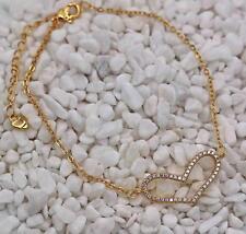 Bracelet 18K Gold Filled Clear Topaz Gemstone Cuff Chain Heart Lady Zircon Vogue