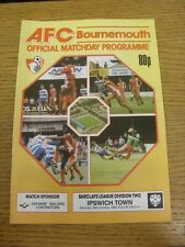 29/10/1988 Bournemouth v Ipswich Town  . Thanks for viewing this item, buy in co
