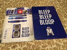 "Star Wars R2 D2 Lot Of 2  Door/Wall Sign 12""x 8.5"" NEW Astromech Droid"