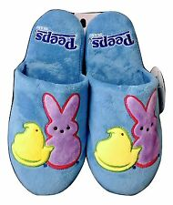 1X Peeps Blue Bunny & Chic Themed Bedroom Slippers SMALL US Shoe Size 5-6