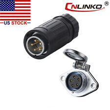 5 Pin Power Signal Circular Connector Male Plug Amp Female Socket Waterproof Ip67