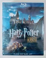Harry Potter Complete 8-Film Collection 8-Disc Blu-Ray Set WB New Sealed
