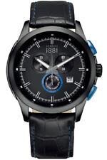 Cerruti 1881 Men's Watch Chrono CRA092F222G Leather Stainless Steel Wrist Watch