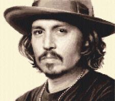 JOHNNY Depp COMPLETA contato CROSS STITCH KIT ~ tutti i materiali inclusi