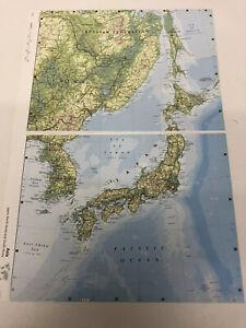 2007 Map Of ASIA: Japan North & South Korea Algeria Mali Mauritania Original