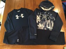 Under Armour Matching Set Hoodie YL, Shirt YL and Pants YXL