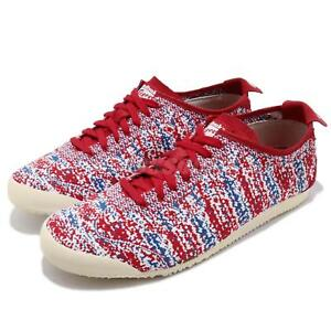 Asics Onitsuka Tiger Mexico 66 Knit True Red Blue Men Running Shoes D703N-2323